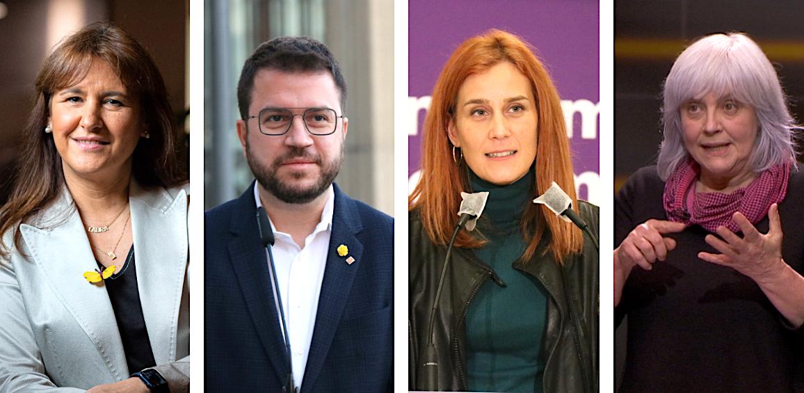 Laura Borràs, Pere Aragonès, Jéssica Albiach i Dolors Sabater / Jordi Borràs i ACN