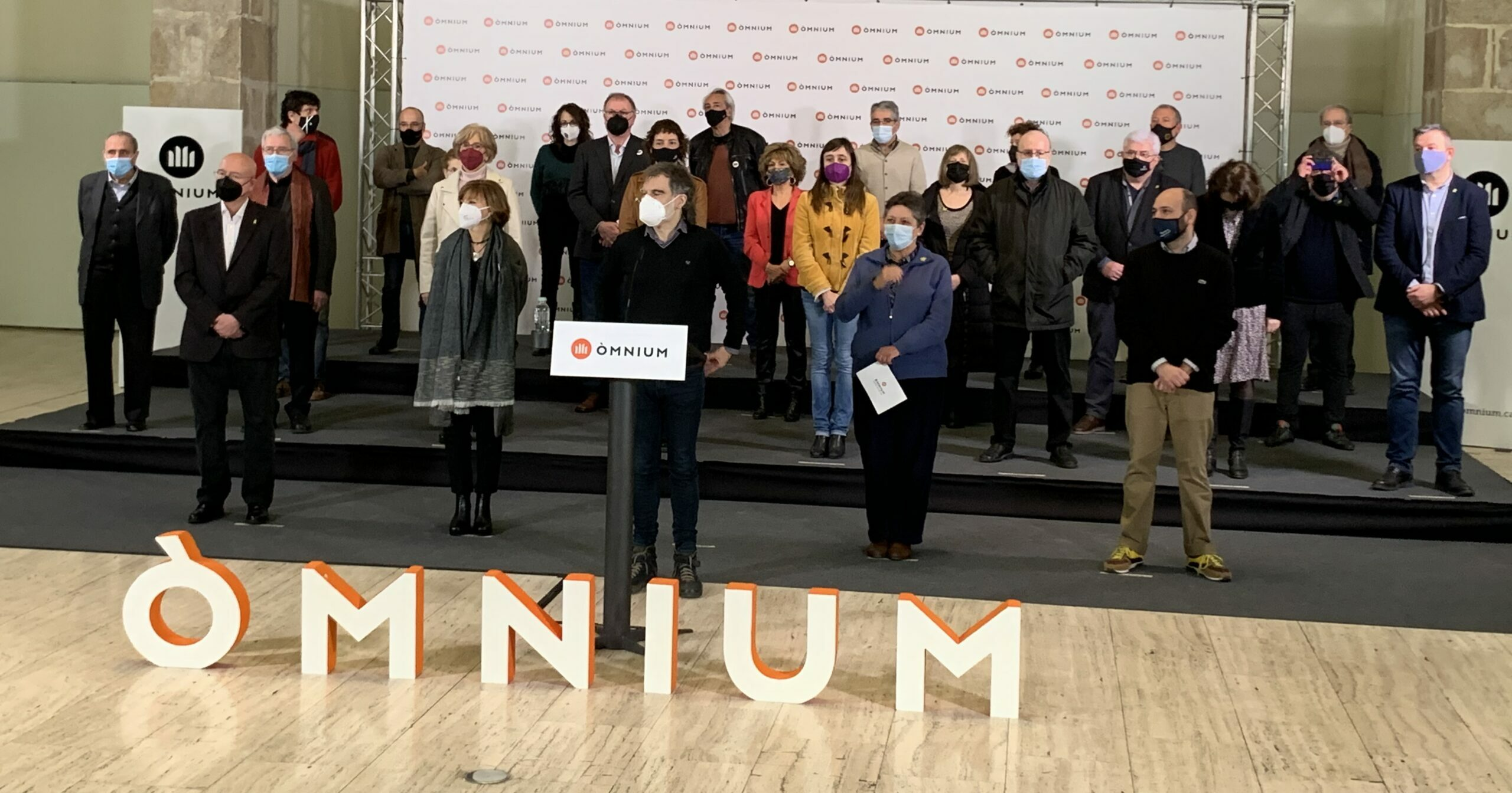 Acte d'Òmnium Cultural, amb Jordi Cuixart, al Museu Marítim de Barcelona, després del 14F / S.B.