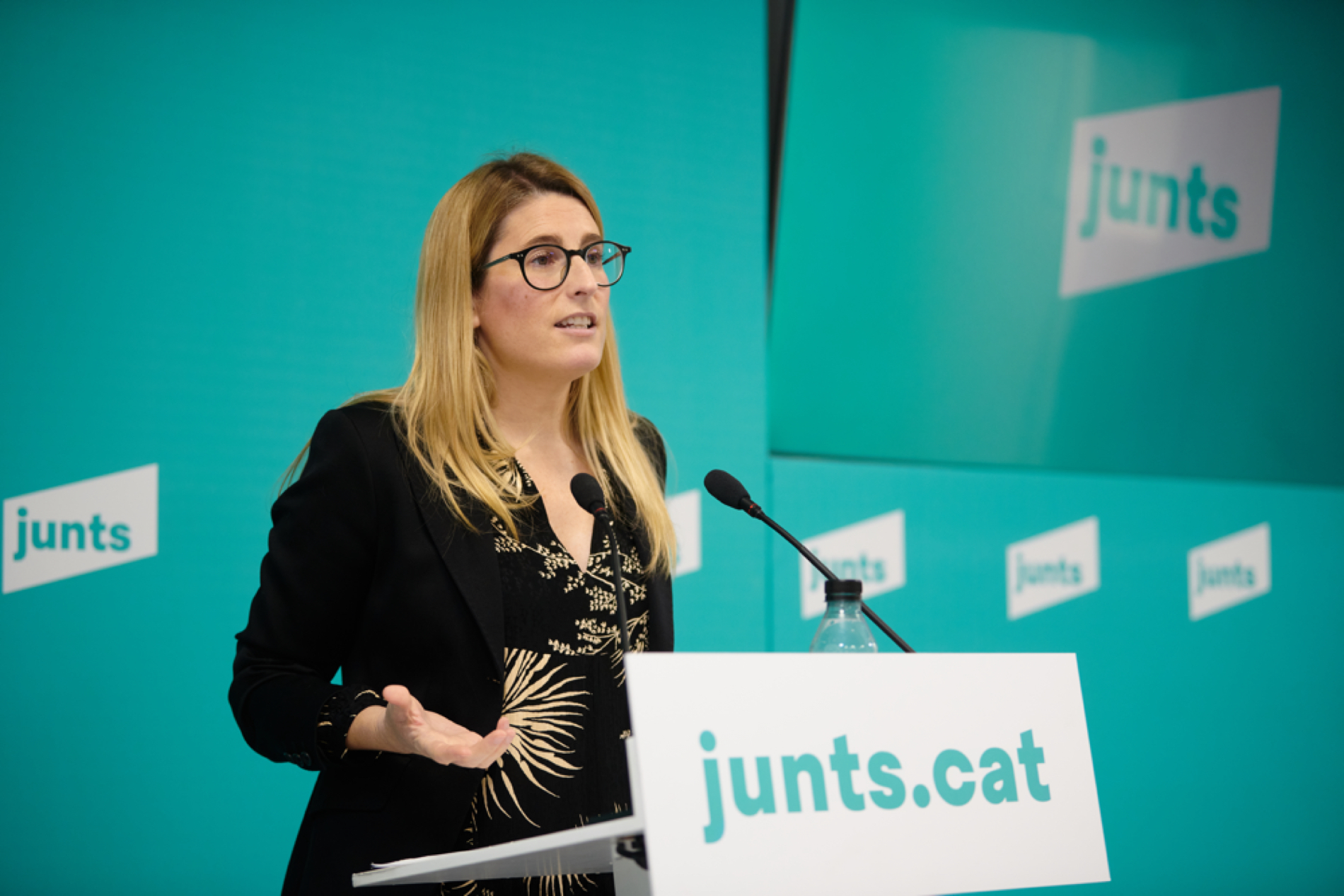 La vicepresidenta de JxCAT, Elsa Artadi
