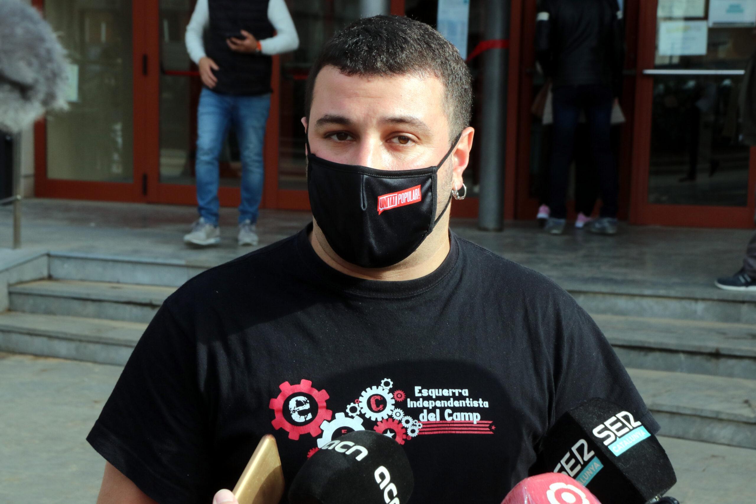 El regidor de la CUP de Reus Edgar Fernández   ACN