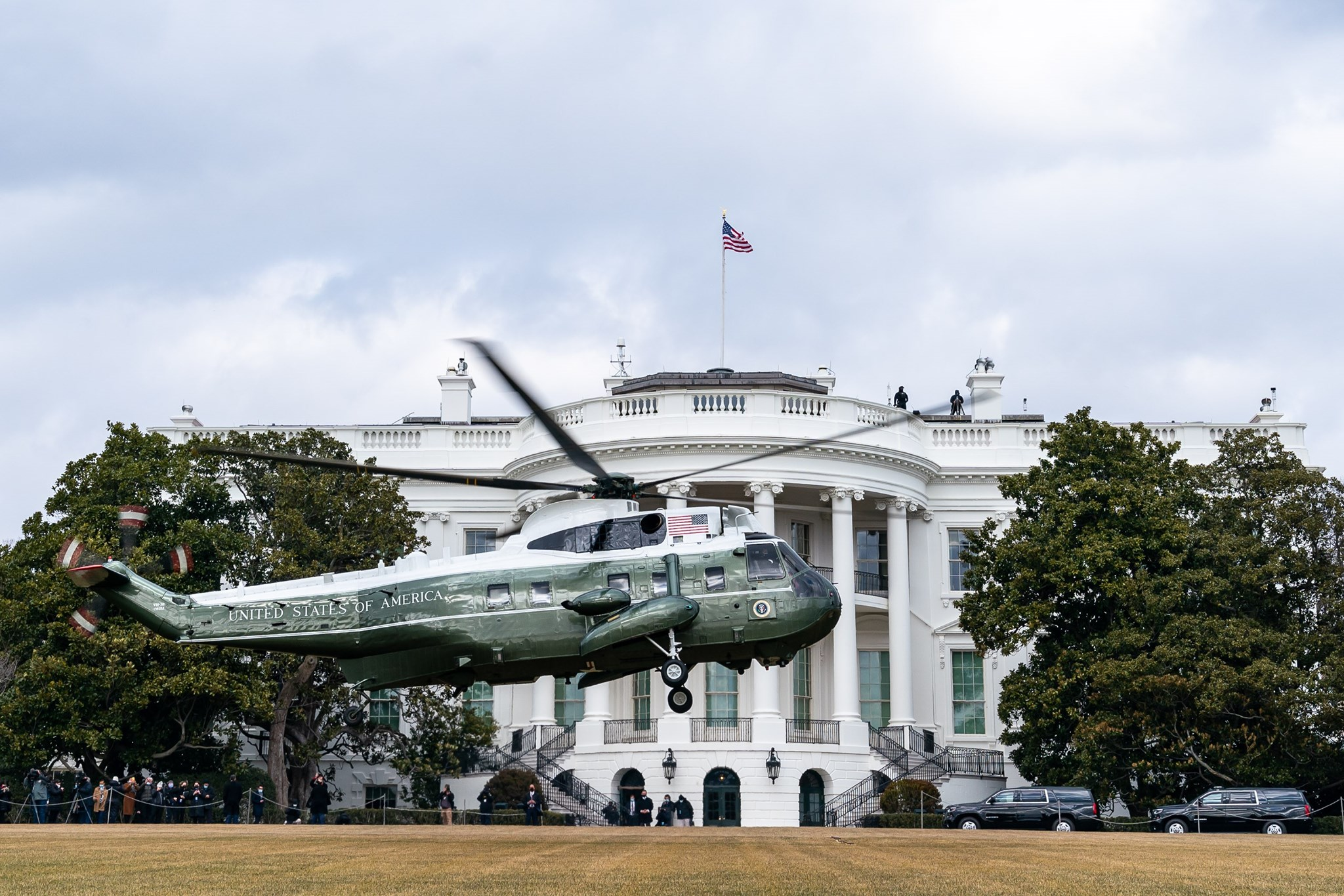 L'helicòpter presidencial aterra a la Casa Blanca/The White House Press