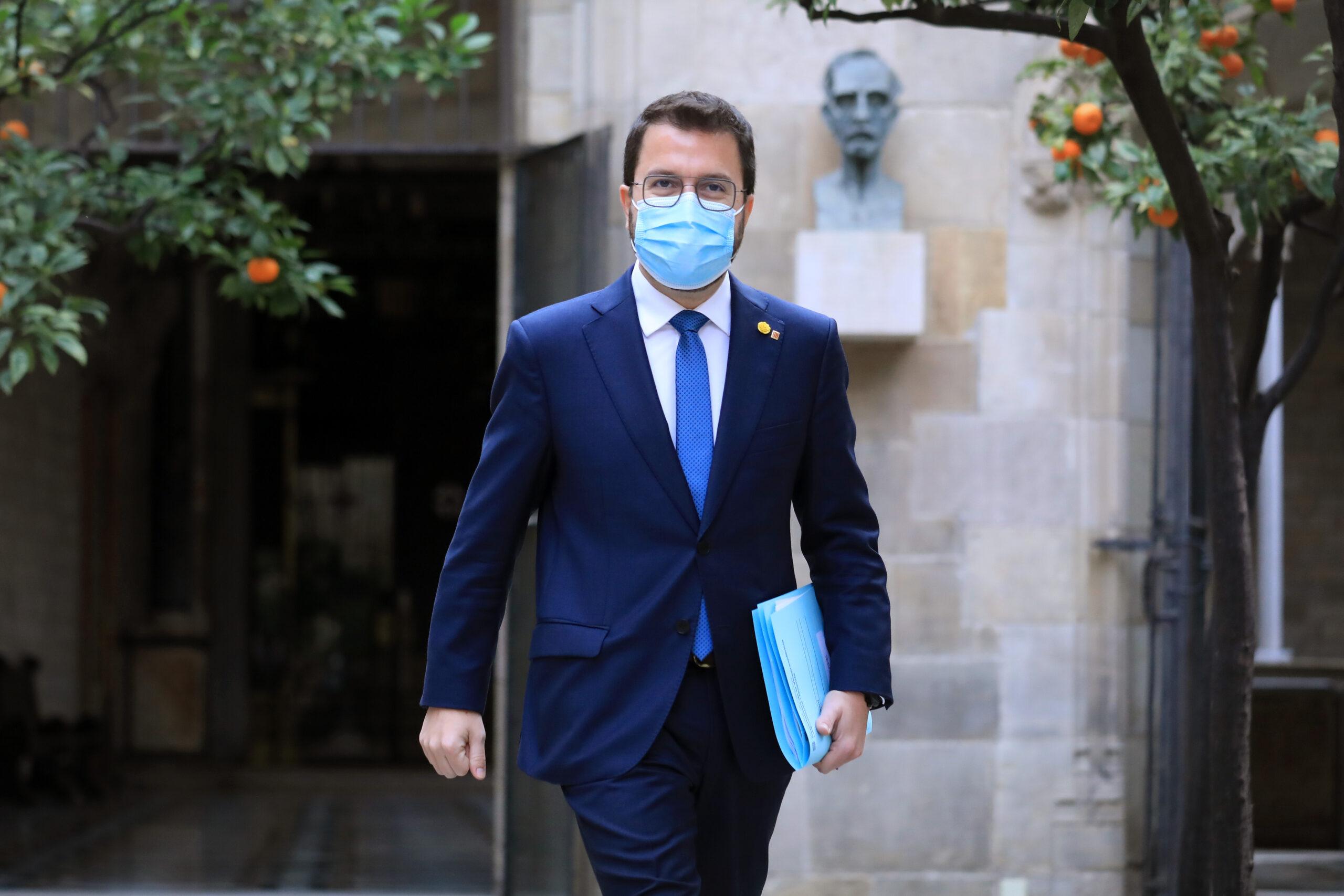 Pere Aragonès al Palau de la Generalitat / Govern