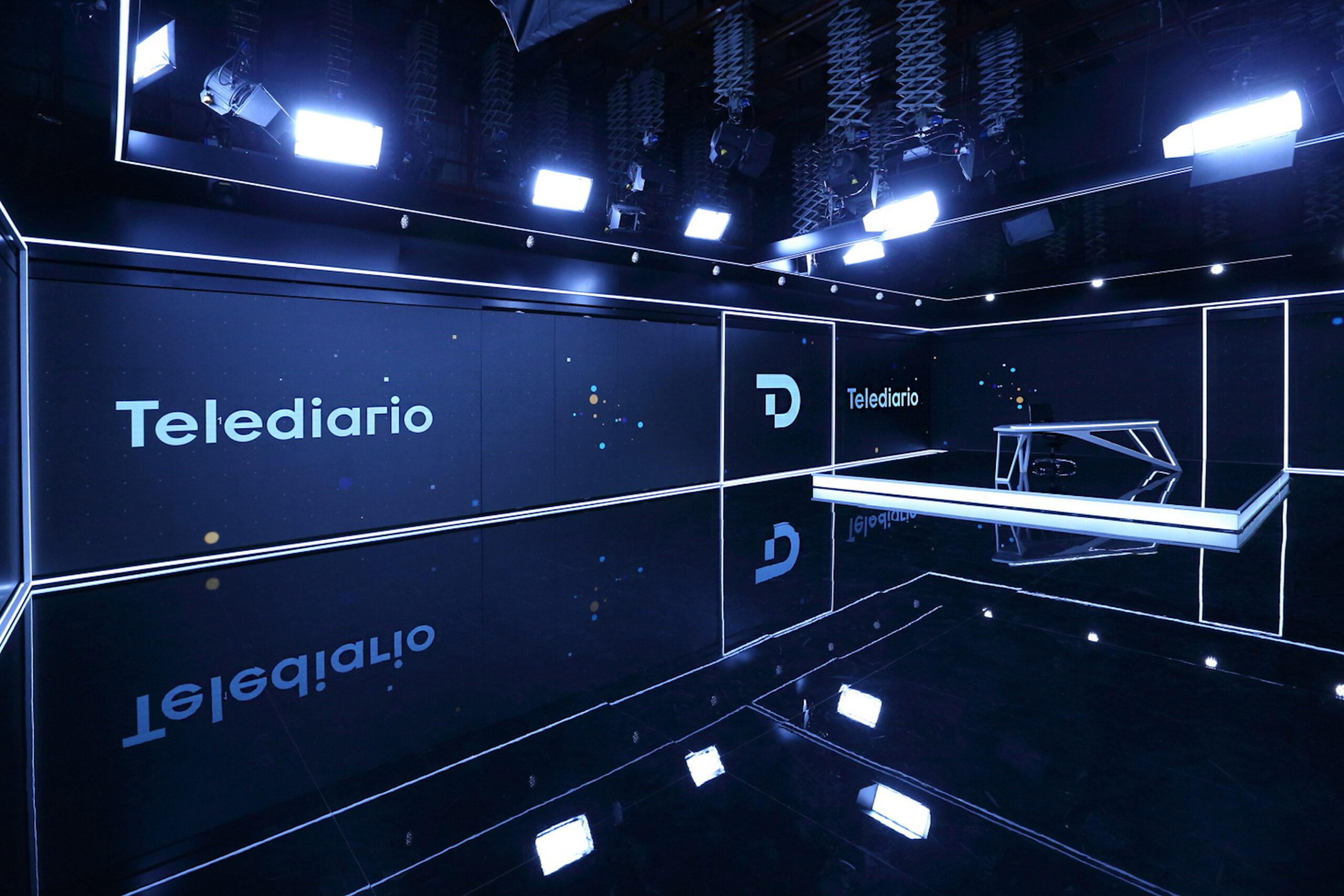 El nou plató dels 'Informatius' de RTVE, en una imatge cedida
