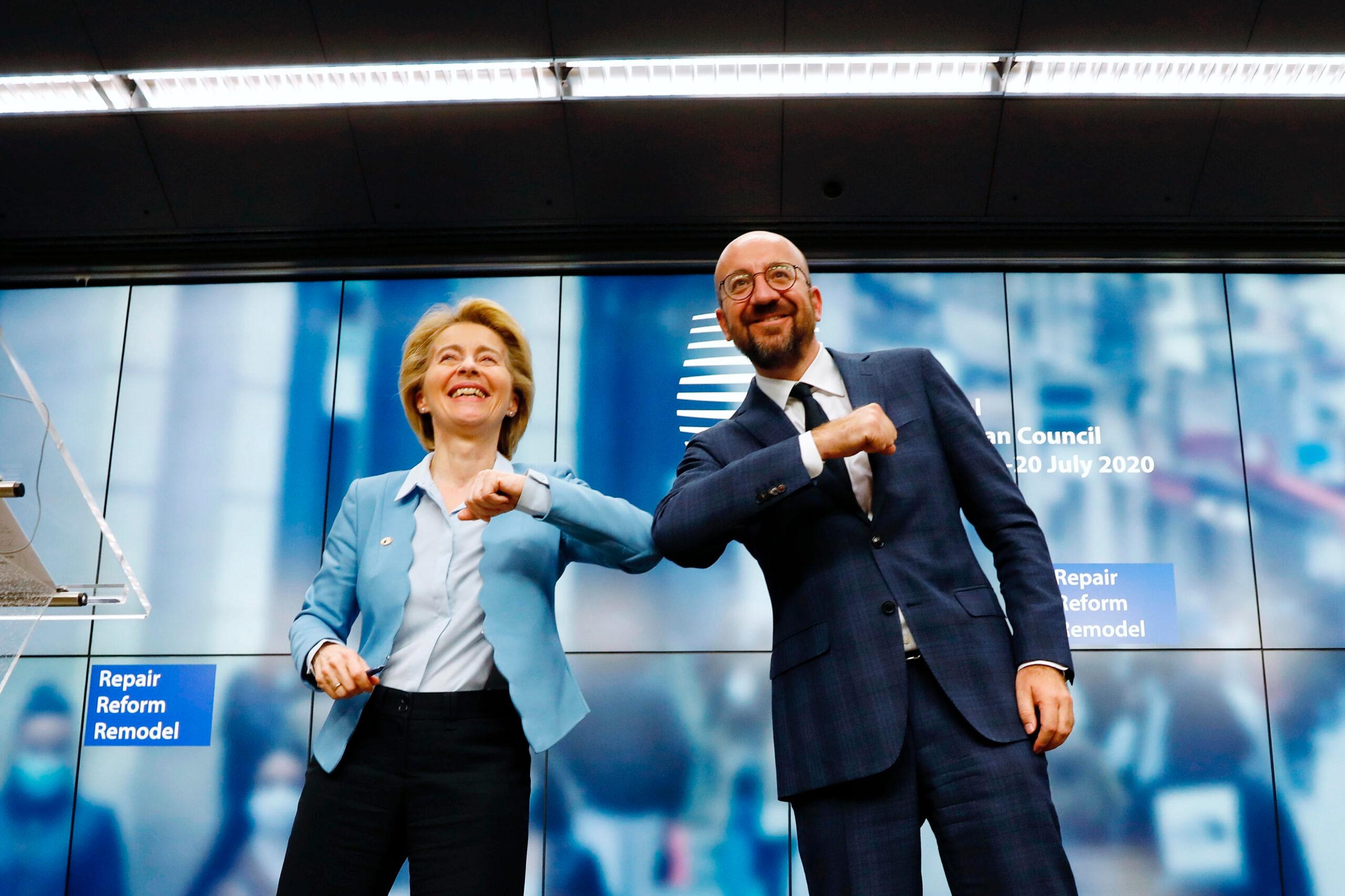 La presidenta de la Comissió Europea, Úrsula Von der Leyen, i el president del Consell Europeu, Charles Michel