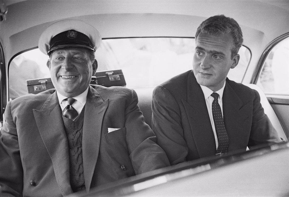 Joan Carles i el seu pare Juan de Borbón | Europa Press
