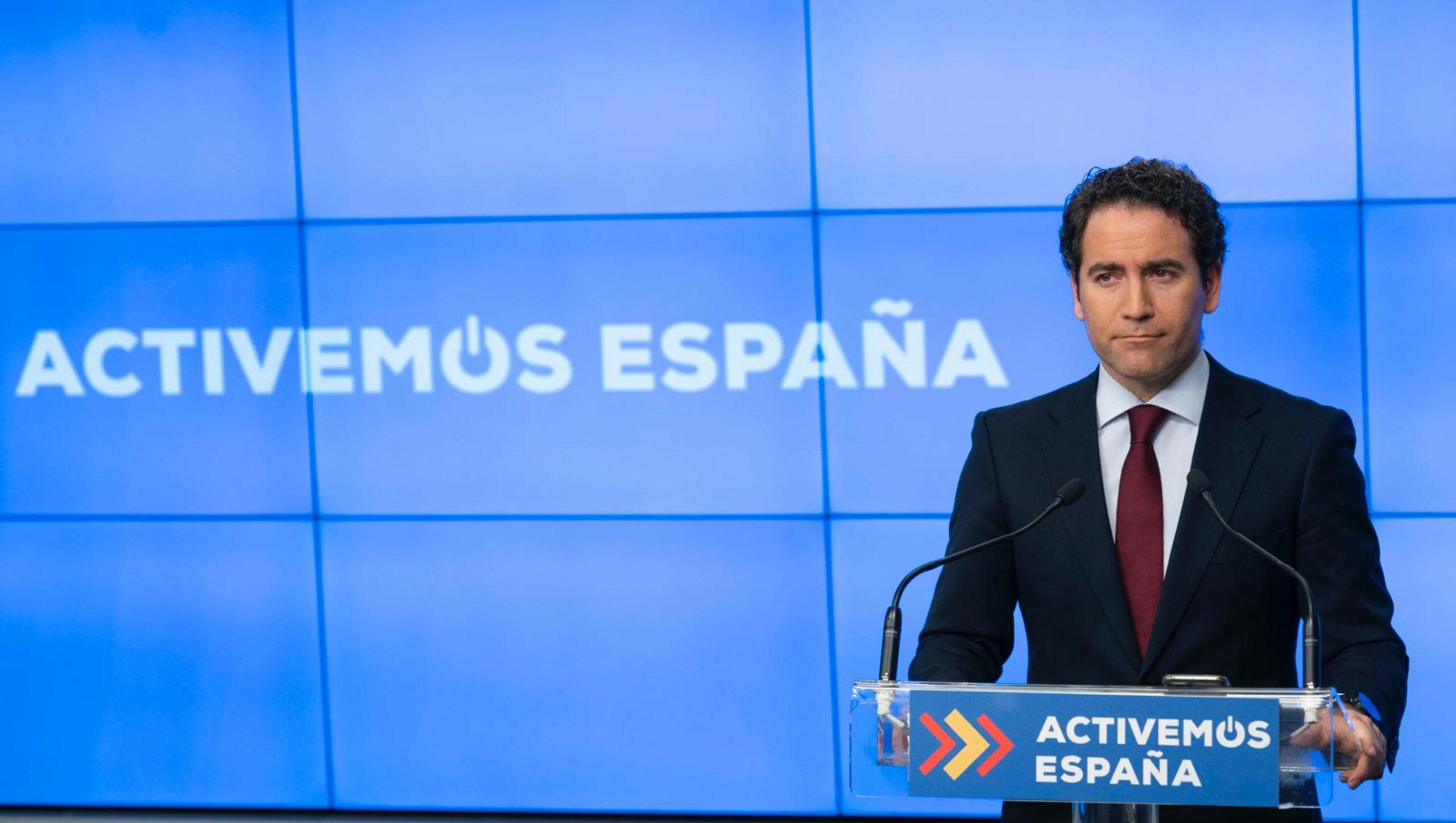 El secretari general del PP, Teodoro García Egea, en roda de premsa a la seu del PP.
