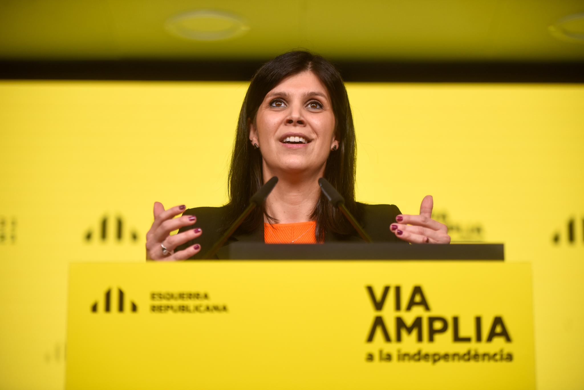 Marta Vilalta, en la roda de premsa/M.Puig