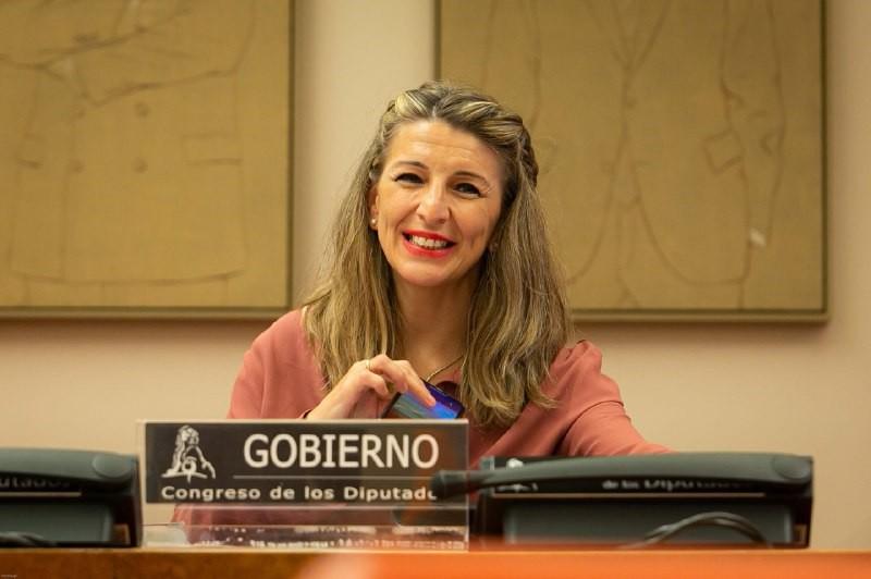 La ministra de Treball, Yolanda Díaz, en una compareixença al Congrés dels Diputats, l'11 de juny de 2020 / ACN