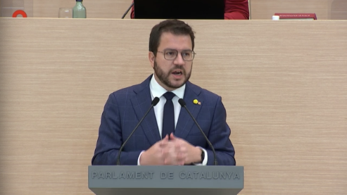 Pere Aragonès a la segona volta del debat d'investidura