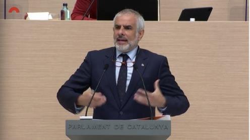 Carlos Carrizosa a la segona volta del debat d'investidura