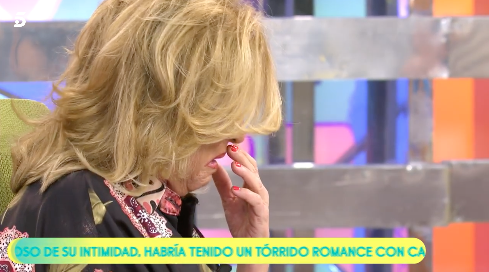 Lydia Lozano plorant a 'Sálvame'   Telecinco