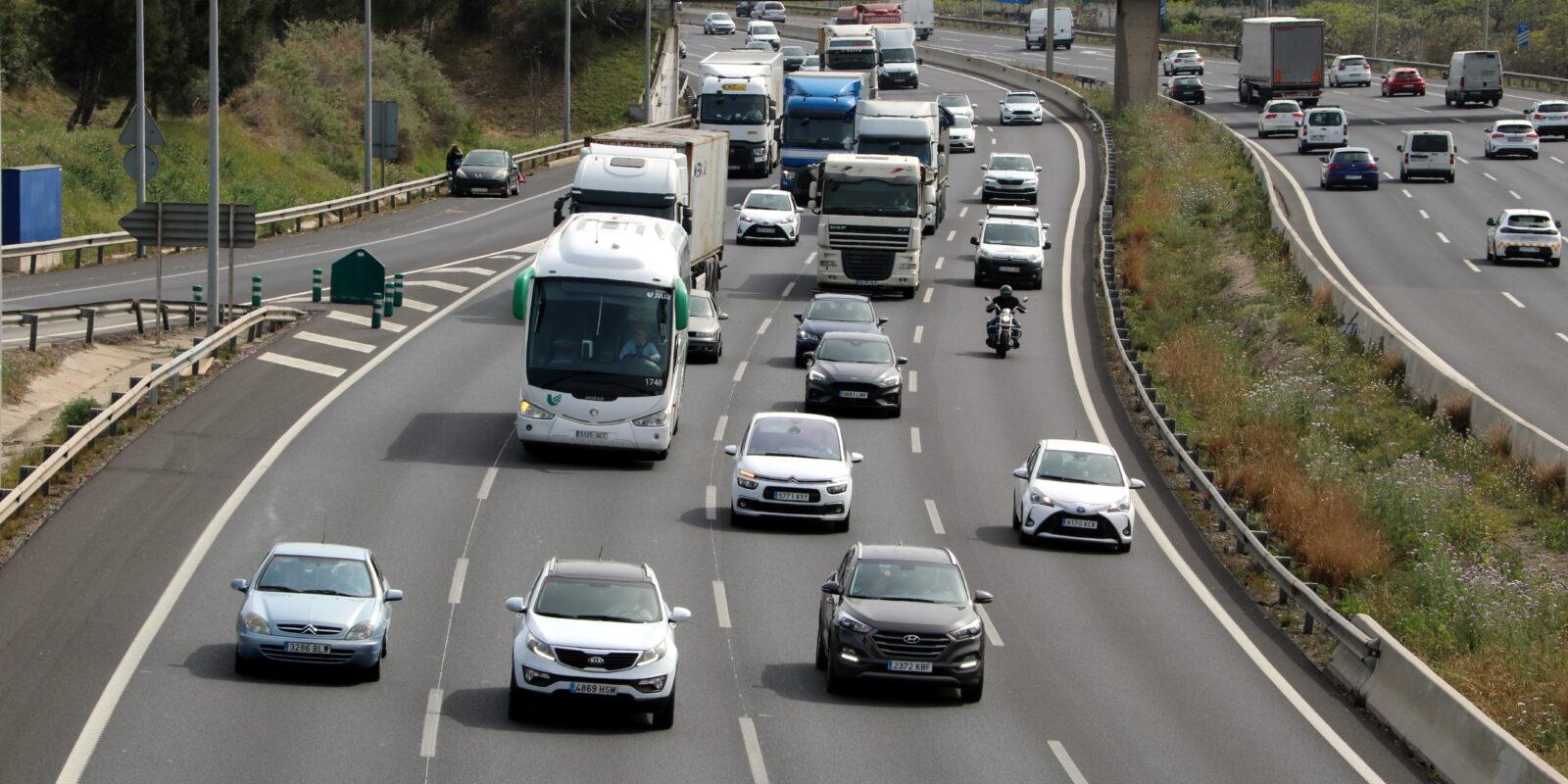 La carretera N-II a l'altura de Sant Joan Despí / ACN