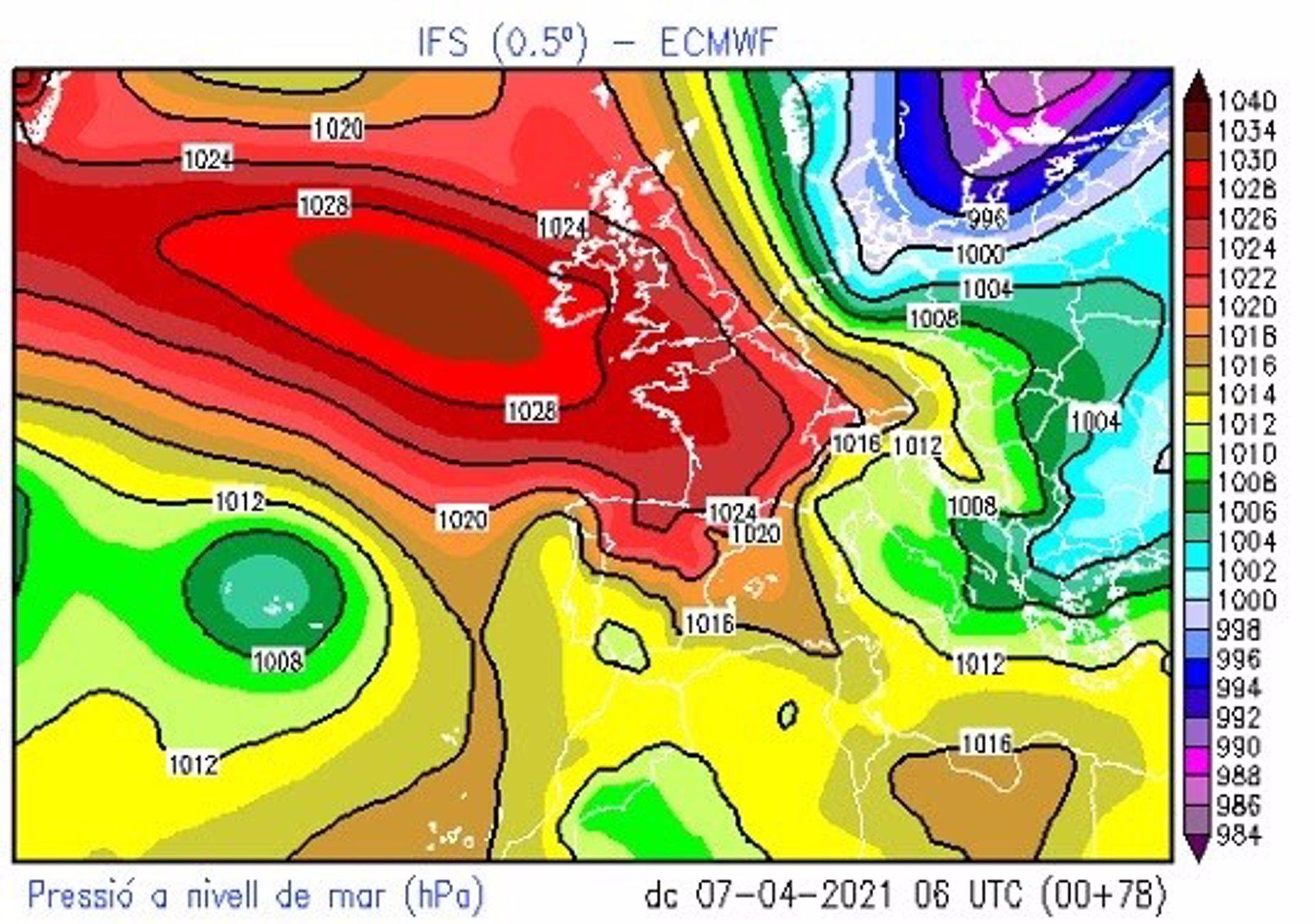 04/04/2021 Llgada de una masa de aire polar a Catalunya ESPAÑA EUROPA CATALUÑA SOCIEDAD METEOCAT