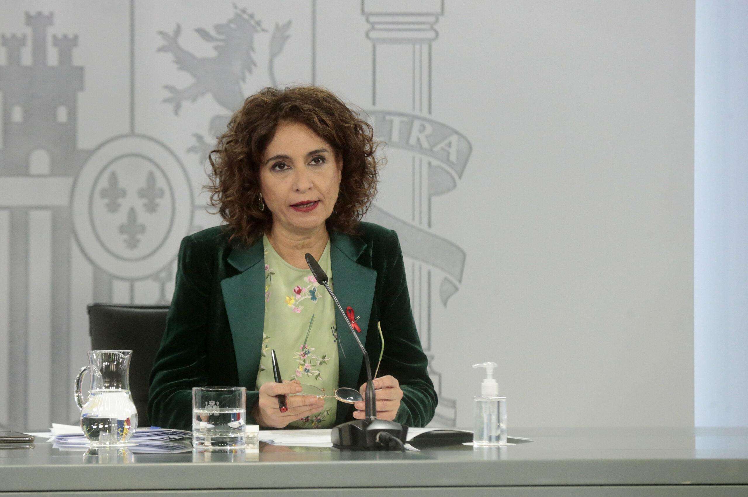 La portaveu del govern espanyol i ministra d'Hisenda, María Jesús Montero | ACN