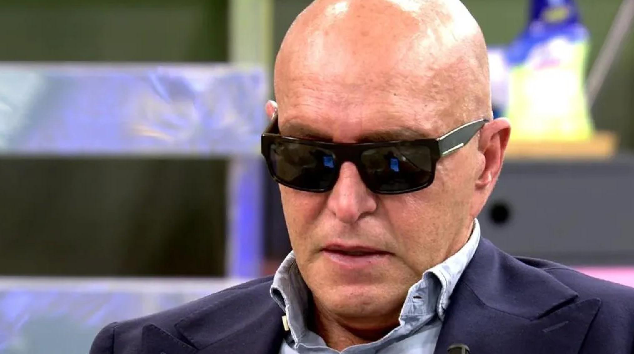 Kiko Matamoros amb ulleres de sol a 'Sálvame' | Telecinco