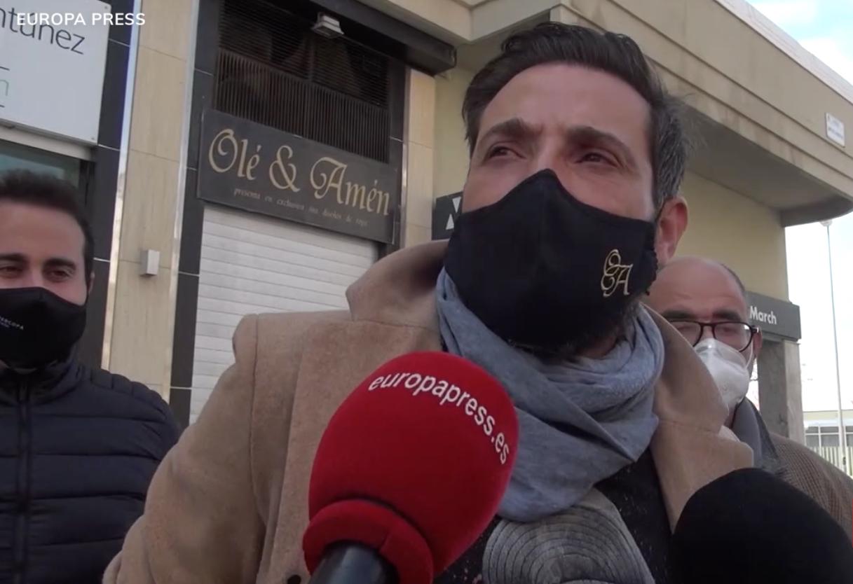 Antonio David Flores concedeix declaracions a Europa Press