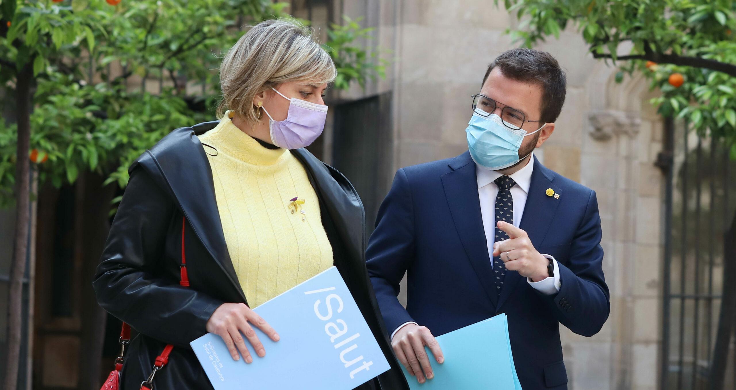 Alba Vergés amb Pere Aragonès / Govern