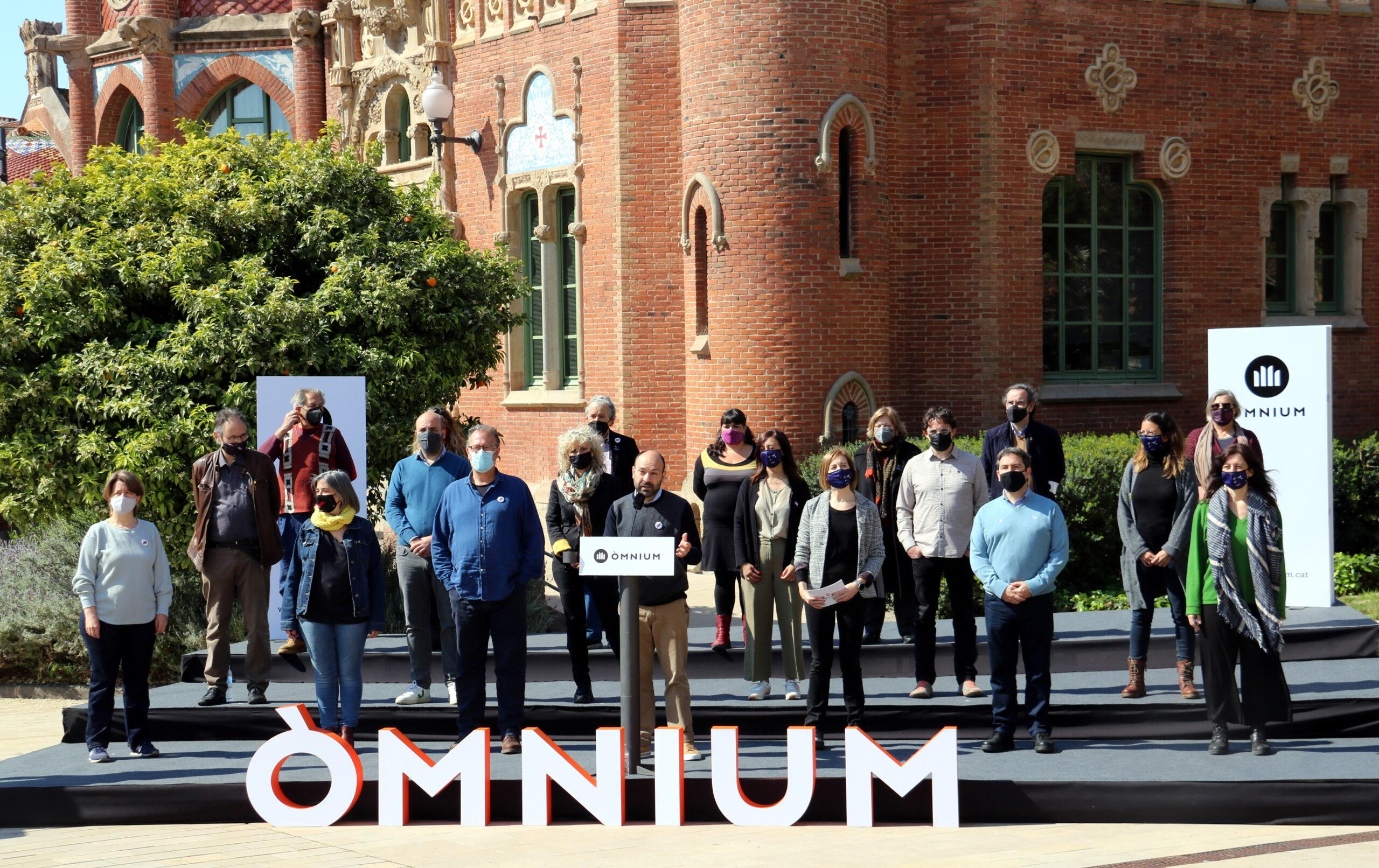 L'acte d'Òmnium Cultural al Recinte Modernista de Sant Pau | ACN