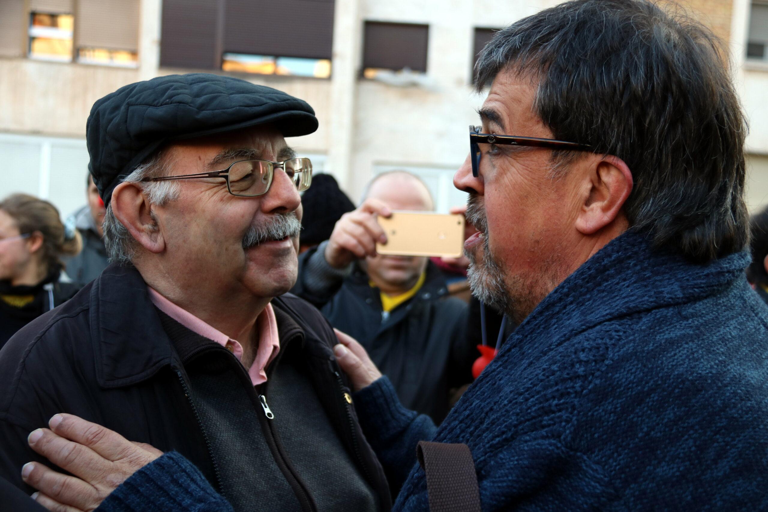 Joan Badia amb Jordi Pesarrodona   ACN