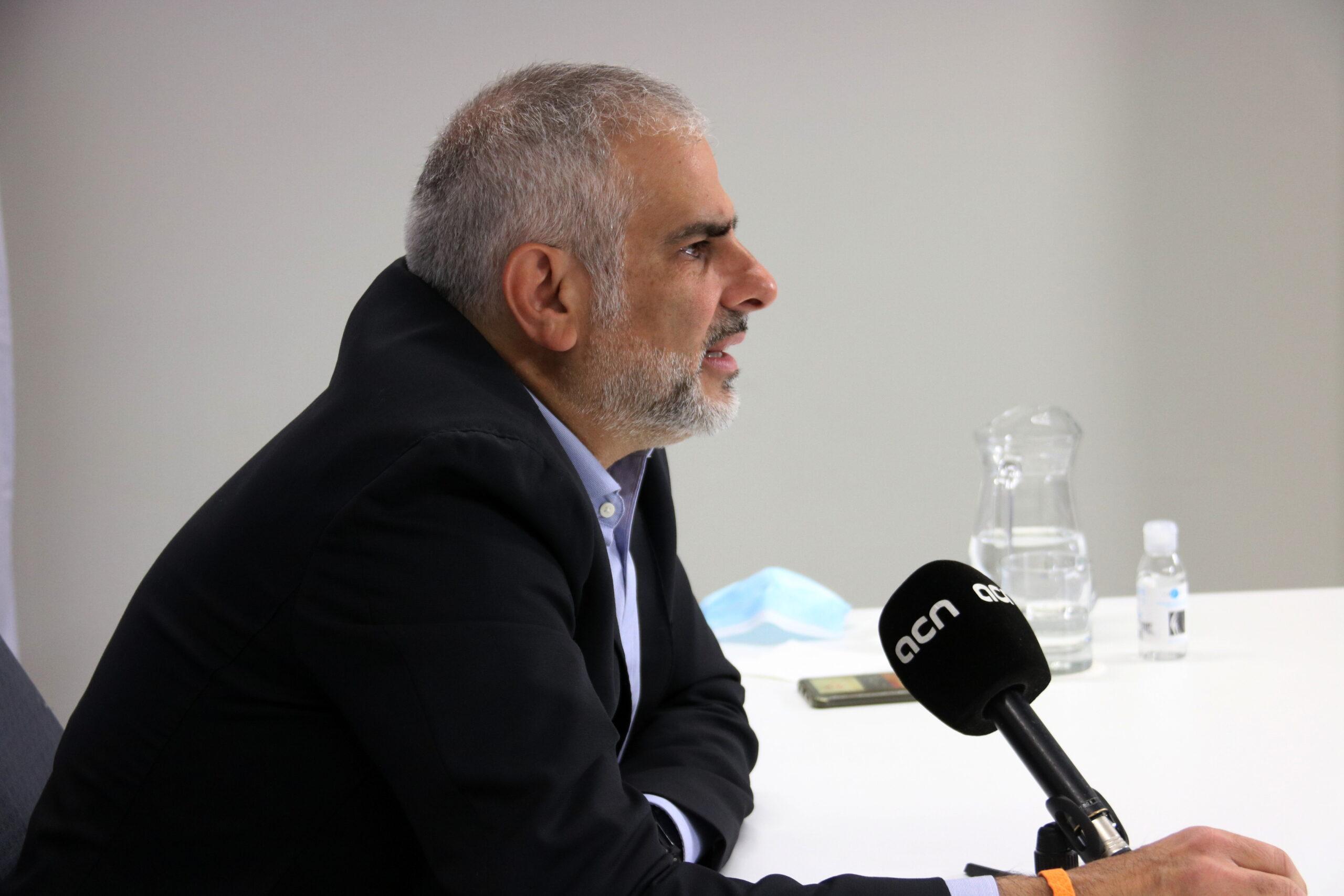 El president del grup parlamentari de Ciutadans, Carlos Carrizosa | ACN