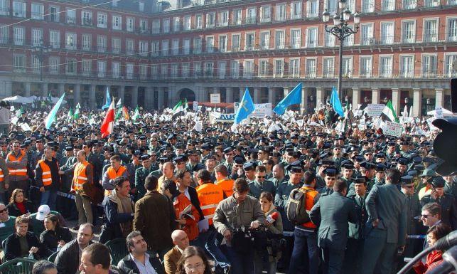 Una protesta de Guàrdies Civils a Madrid/AUGC