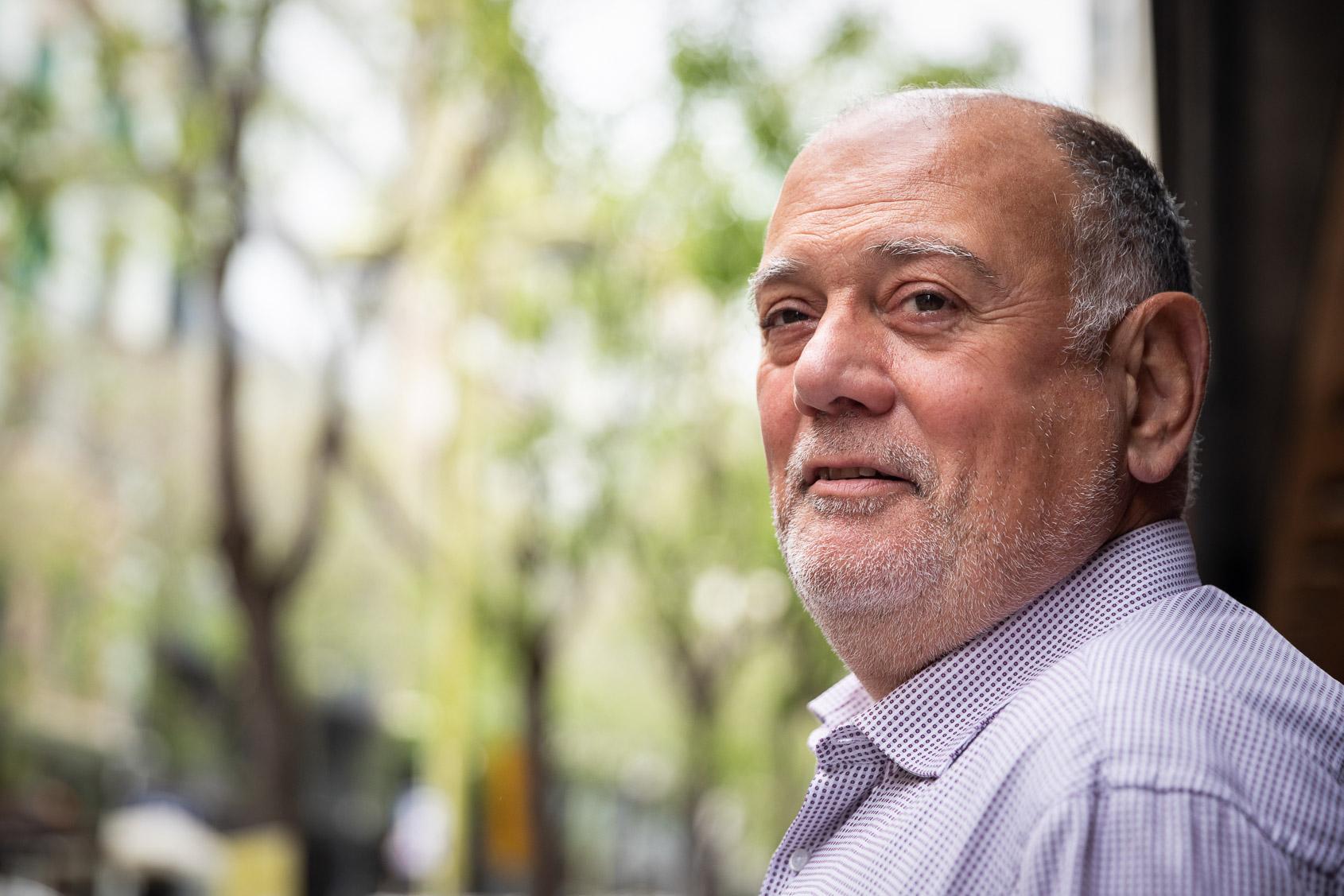 Gonçal Oliveros, en un moment de l'entrevista/Jordi Borràs