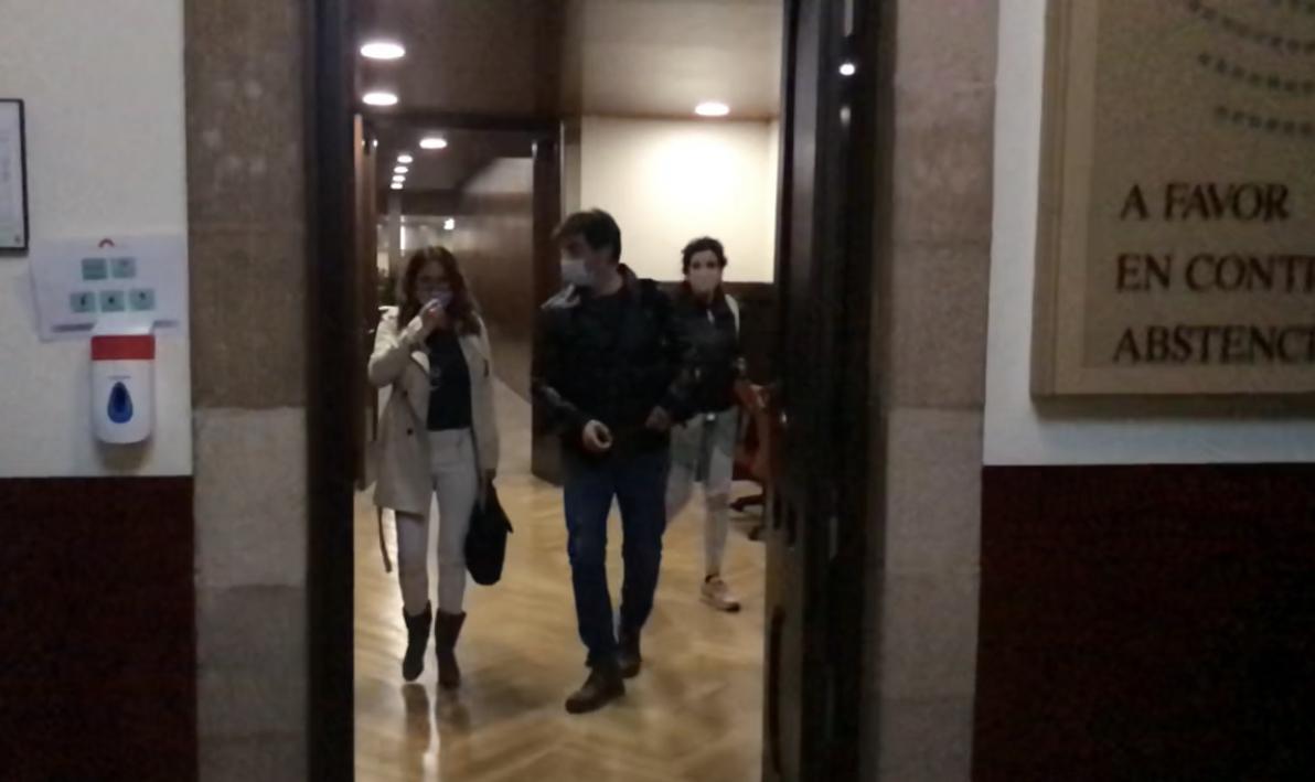 Vilagrà i Sabrià, en sortir de la reunió / Q.S.