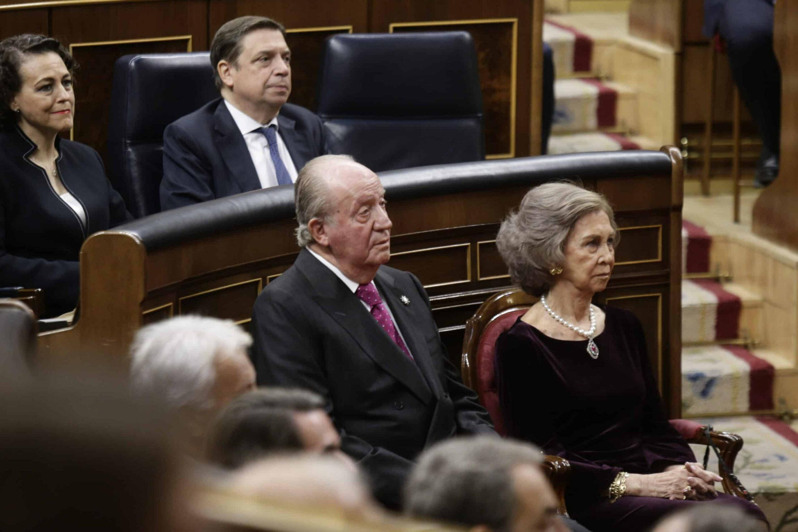 Els reis emèrits Joan Carles i Sofia al Congrés, durant l'acte dels 40 anys de la Constitució | ACN