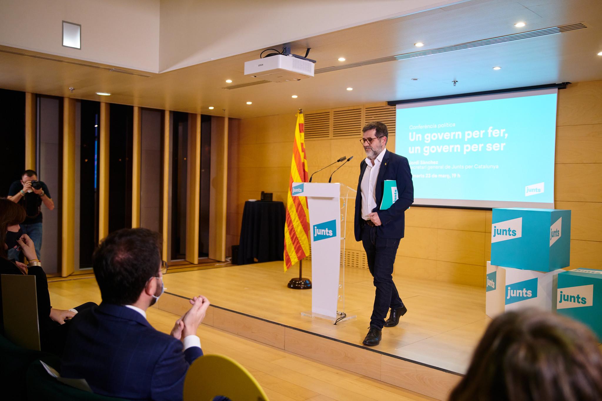 Jordi Sànchez, en la seva darrera conferència política/JxCAT