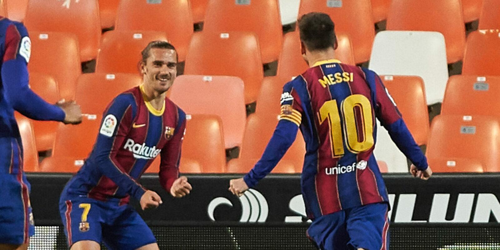 Messi i Griezmann celebren un gol | Europa Press