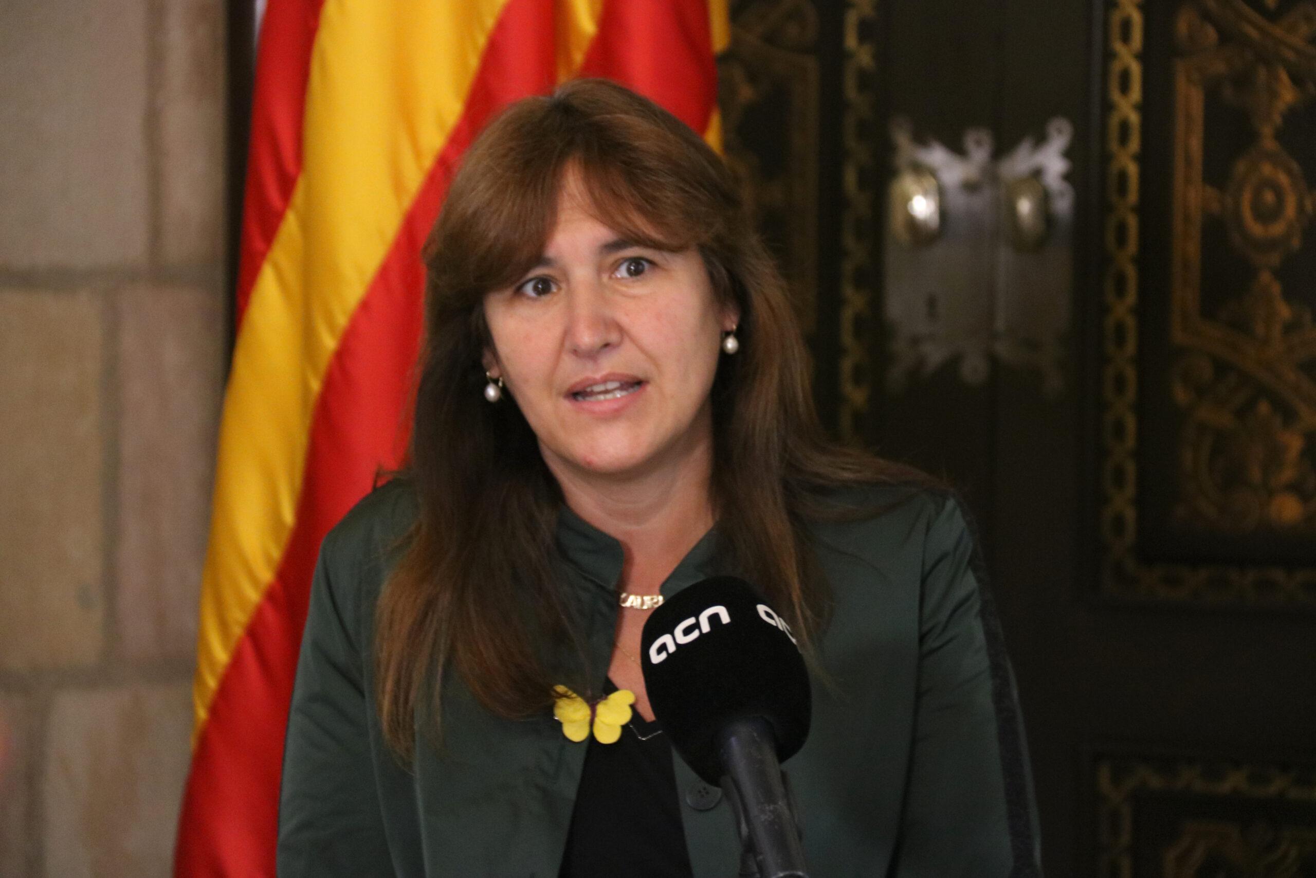 La presidenta del Parlament, Laura Borràs, durant una entrevista amb l'ACN | ACN