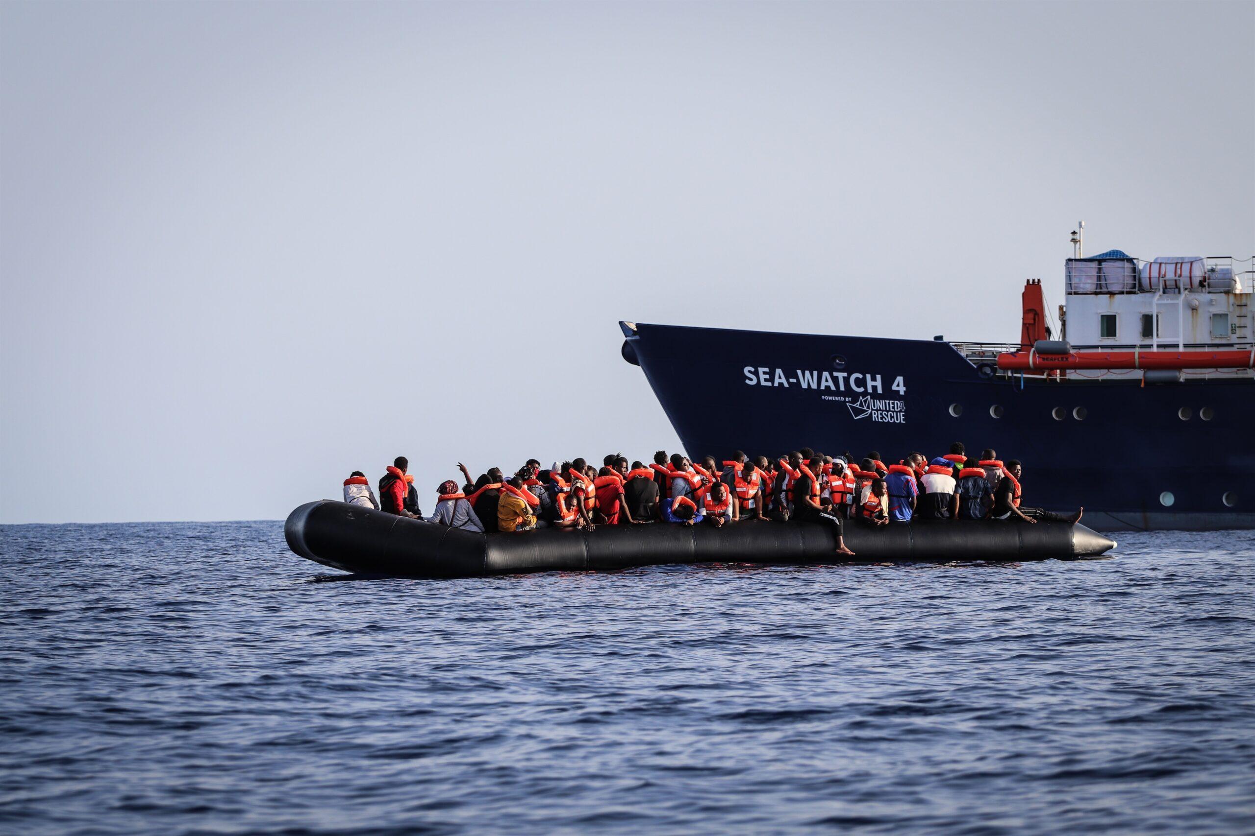 Migrants rescatats pel vaixell 'Sea Watch 4' / EP