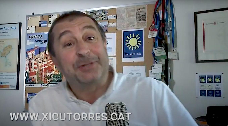 Francesc Torres, rector de la UPC, en un vídeo de campanya del 2017