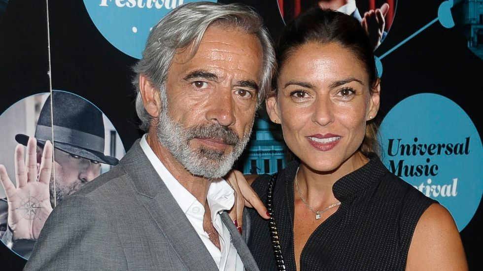 Imanol Arias i Irene Meritxell, en un 'photocall' - Europa Press