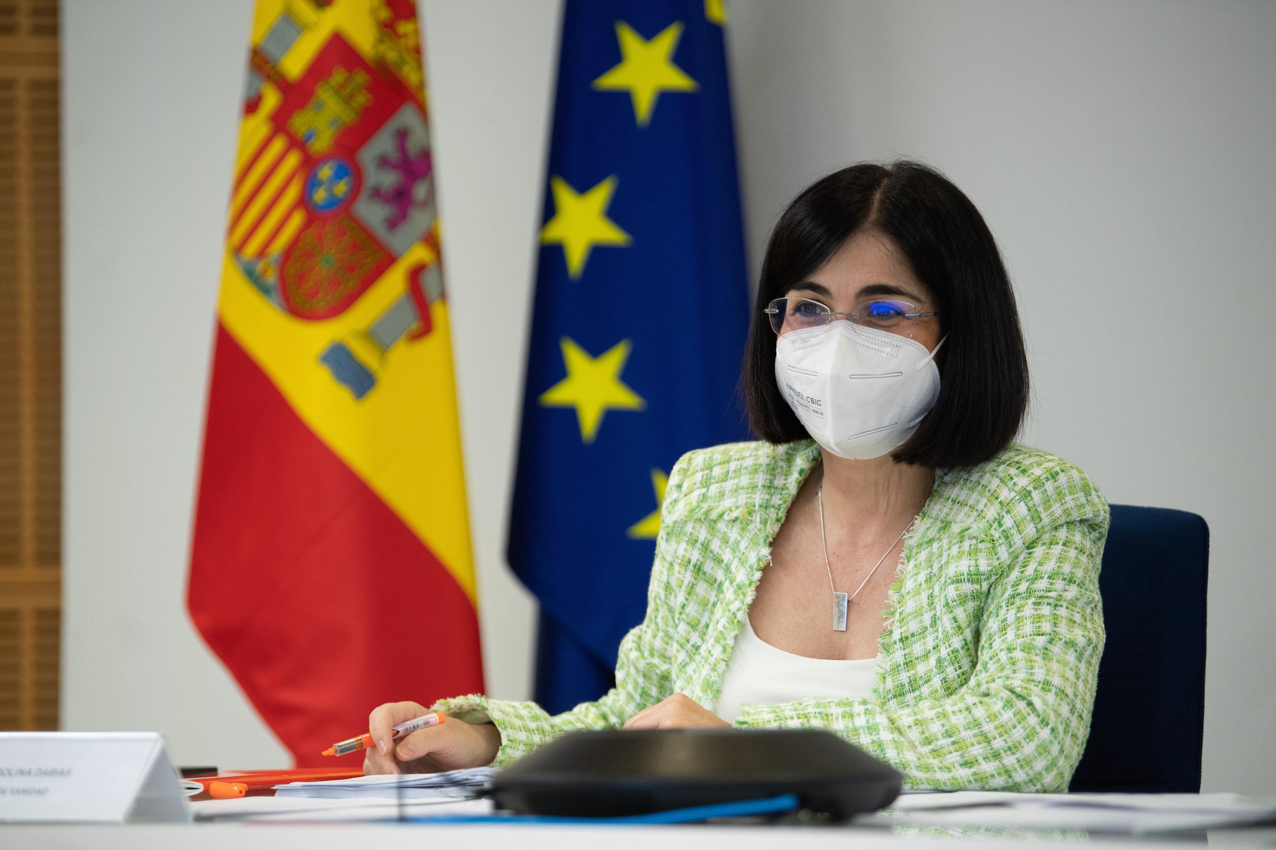 La ministra de Sanitat, Carolina Darias, durant el Consell Interterritorial de Salut del 5 de maig del 2021 a Madrid / ACN