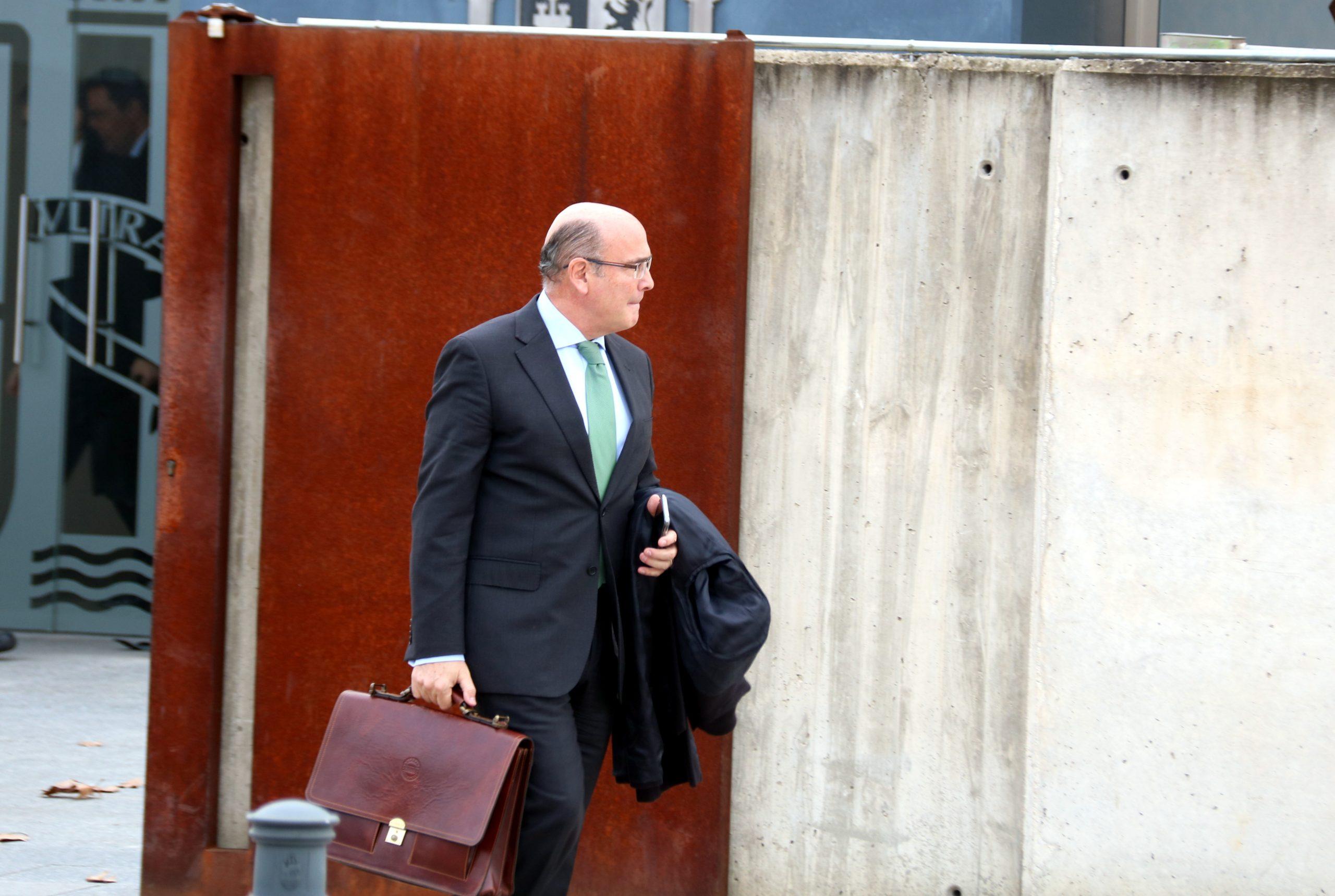 El coronel de la Guàrdia Civil, Diego Pérez de los Cobos, sortint de l'Audiència Nacional després de declarar com a testimoni el 28 de gener del 2020 / ACN