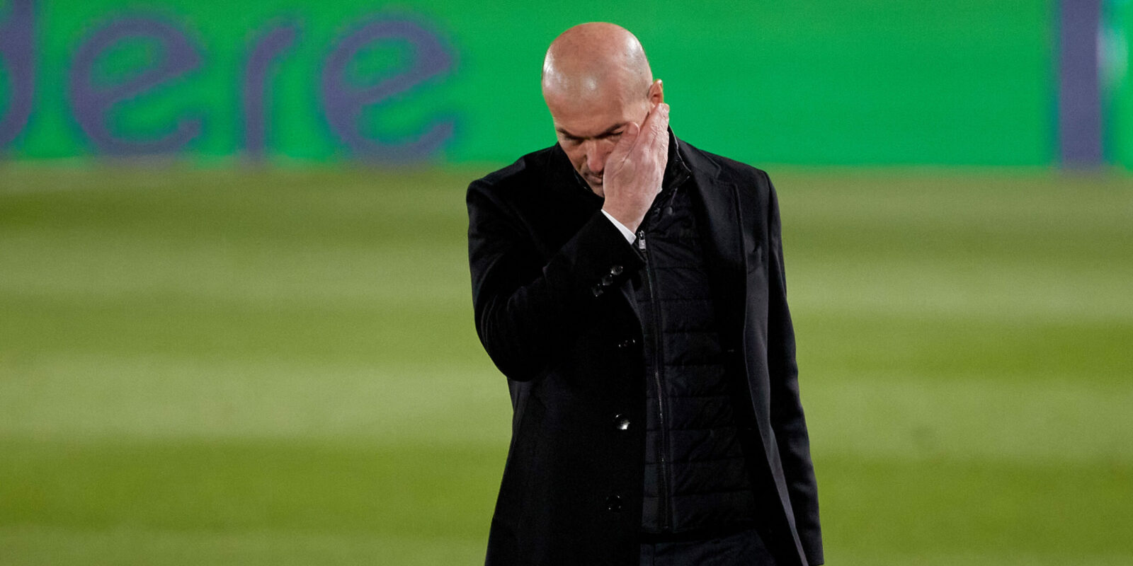 01 March 2021, Spain, Madrid: Real Madrid coach Zinedine Zidane is pictured during the Spanish Primera Division soccer match between between Real Madrid and Real Sociedad at Alfredo Di Stefano stadium. Photo: Indira/DAX via ZUMA Wire/dpa 1/3/2021 ONLY FOR USE IN SPAIN