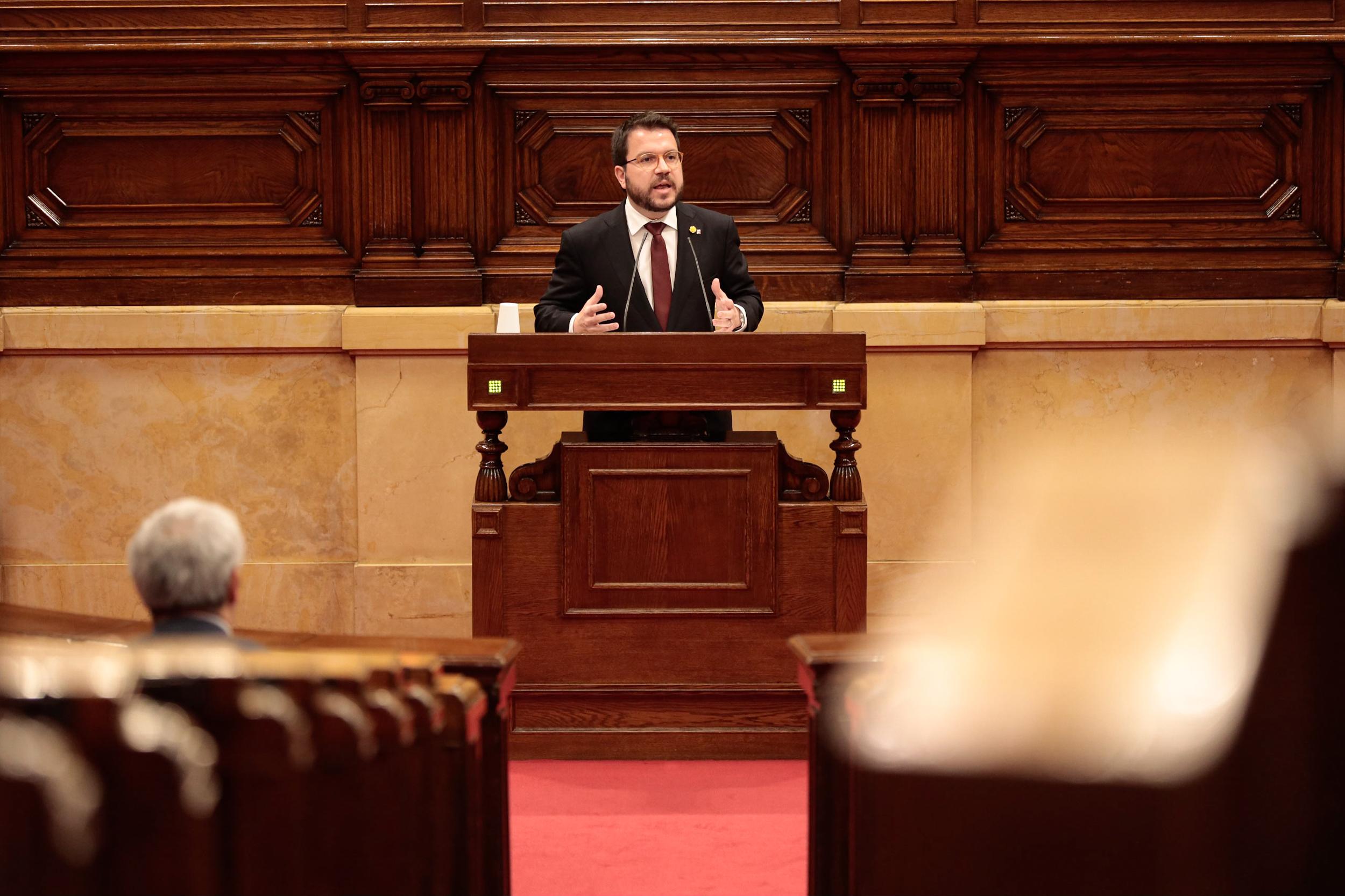 Pere Aragonès, al Parlament, en una imatge d'arxiu / ACN