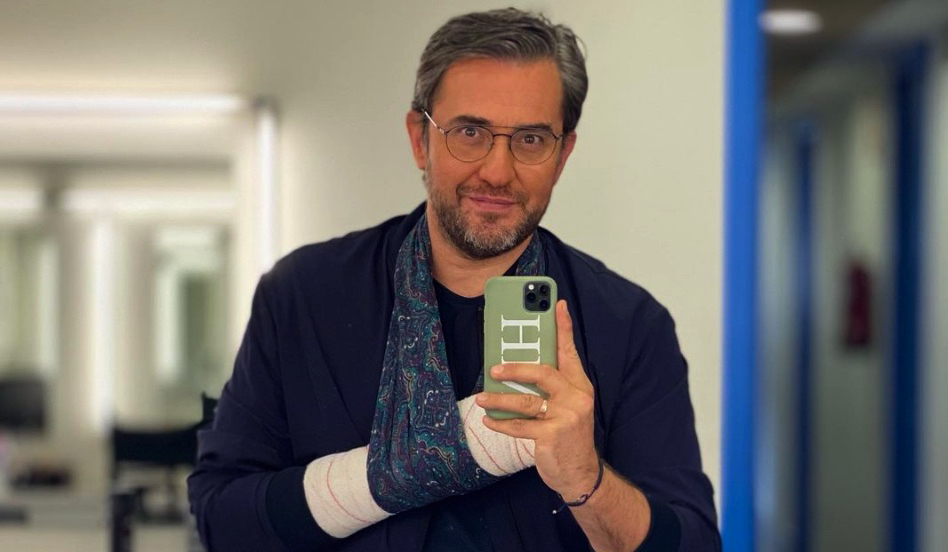 Màxim Huerta, amb el braç embenat - Instagram