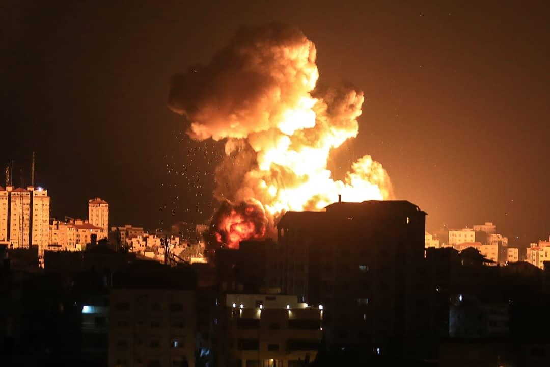 Bombardeig d'Israel sobre Gaza / Foto: Mahmoud Khattab / Quds Net News vi /  DPA/ Europa Press