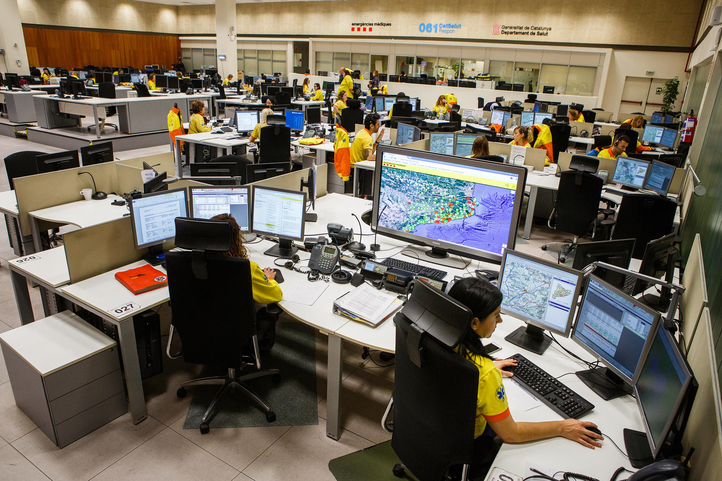 El centre de recepció de trucades del 061 CatSalut Respon | ACN