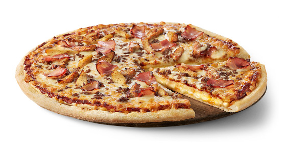 Una pizza de la cadena Telepizza, en una imatge d'arxiu / Telepizza