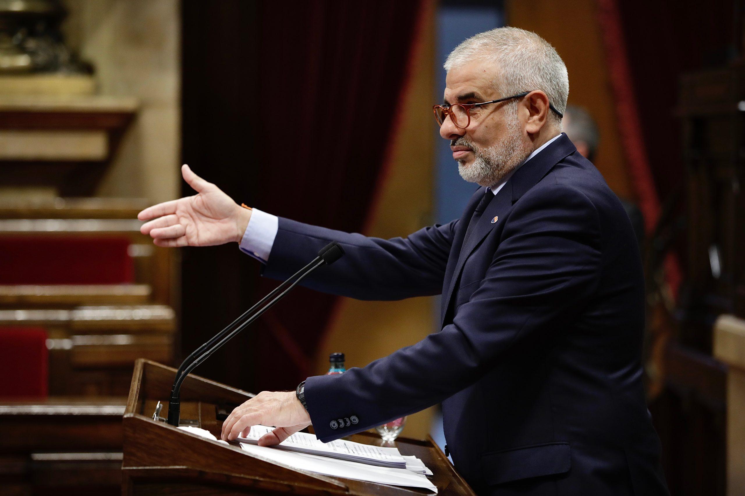 El president del grup parlamentari de Ciutadans, Carlos Carrizosa, en el ple d'investidura del Parlament / ACN