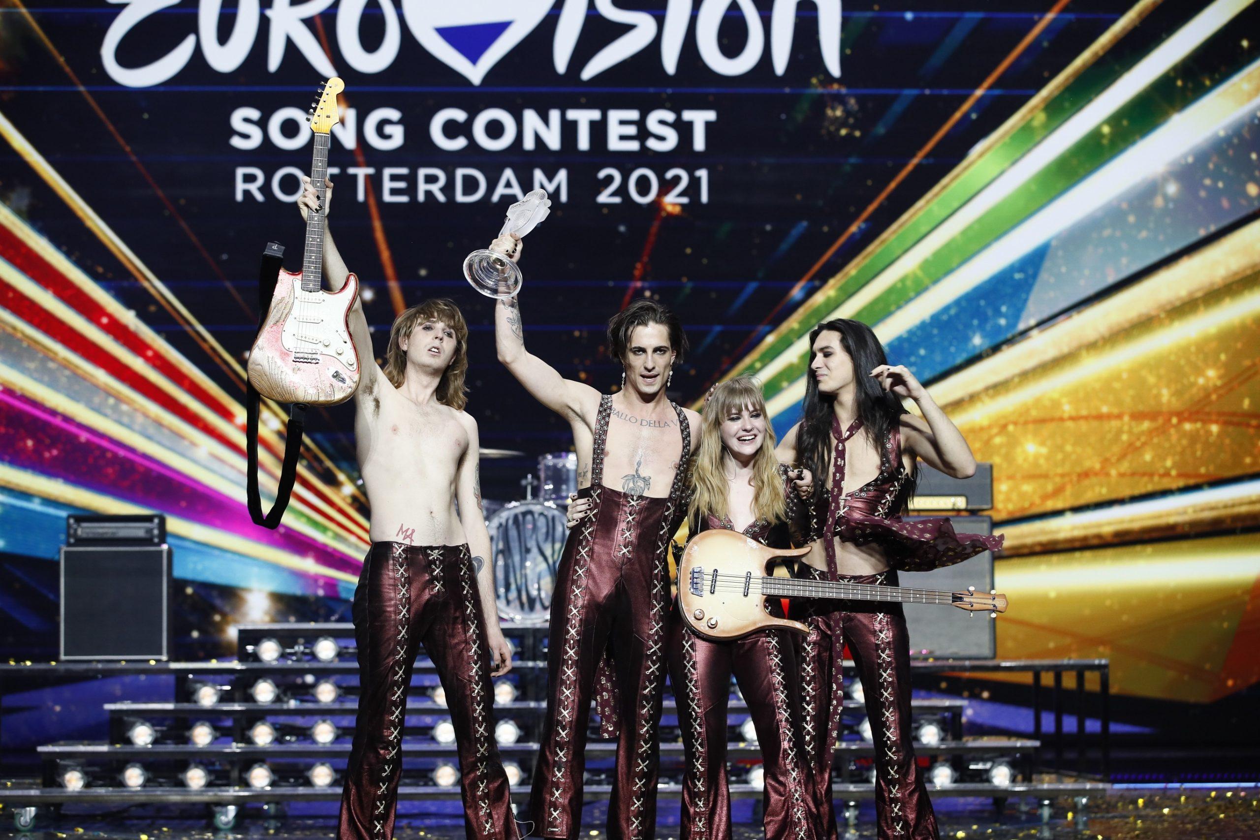 Maneskin, els guanydors d'Eurovisió (EBU Andres Puting)