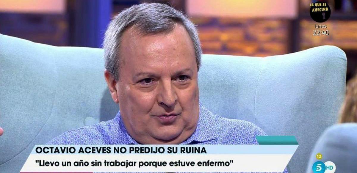 Octavio Aceves, a l'última aparició televisiva - Telecinco