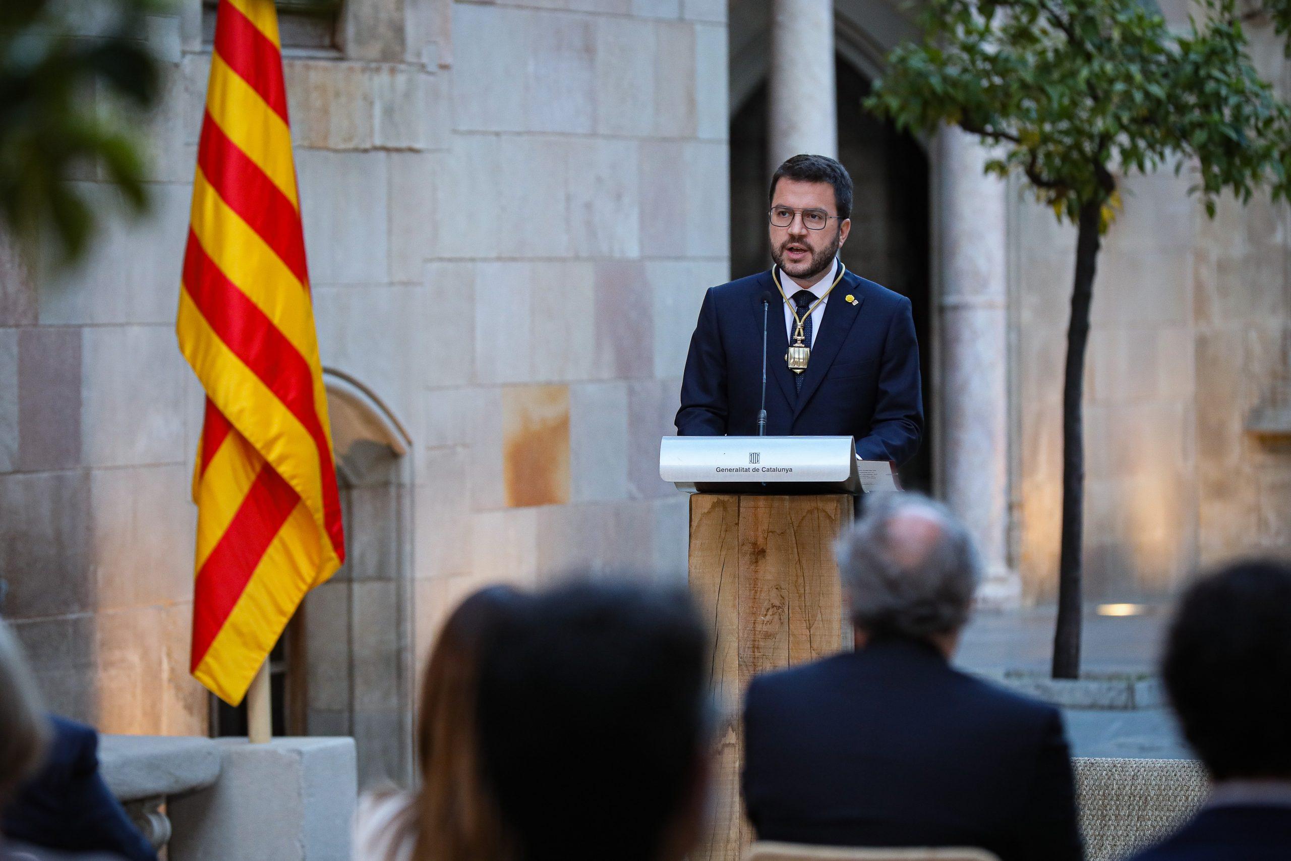 Pere Aragonès en l'acte de presa de possessió com a 132è president de la Generalitat / Jordi Borràs