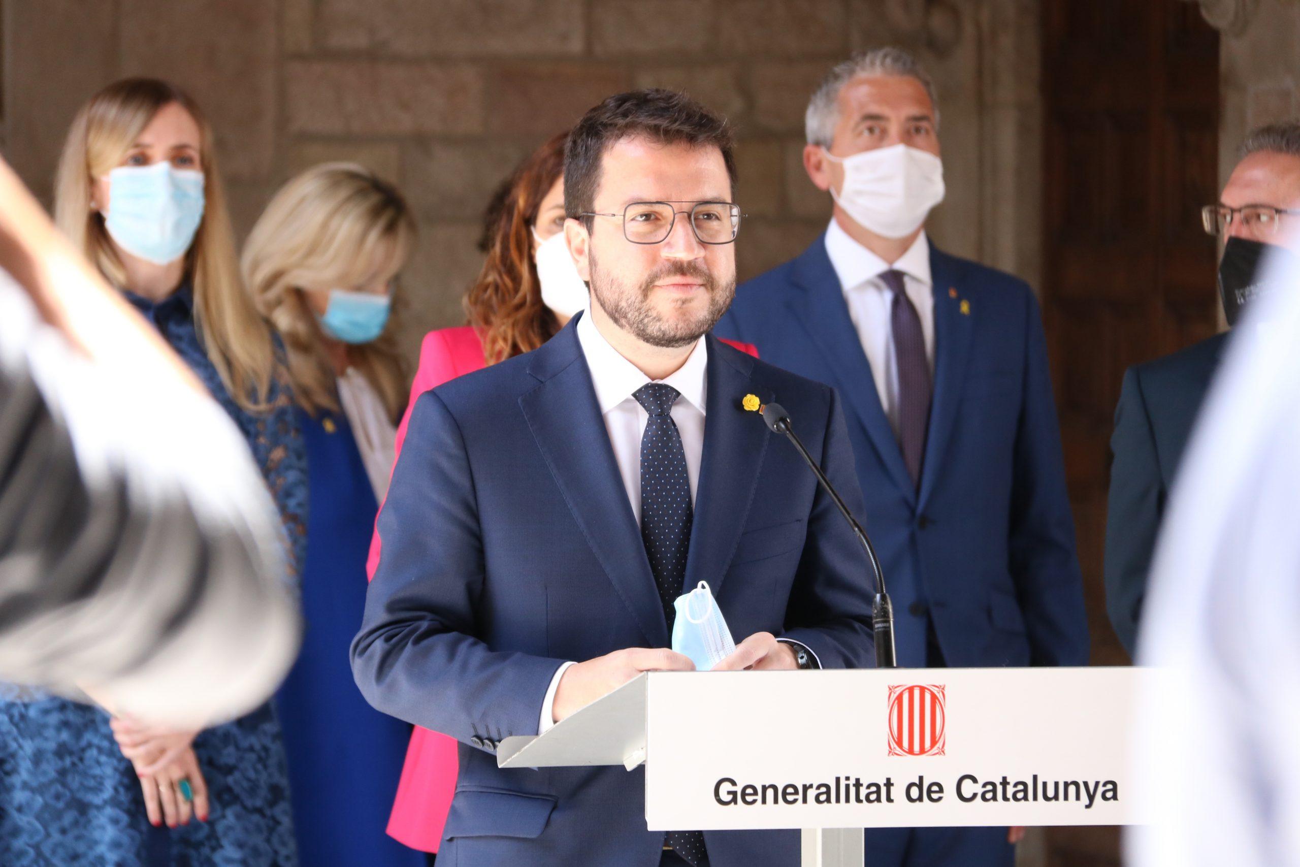 El president Aragonès després del primer Consell Executiu del nou Govern de la Generalitat | ACN