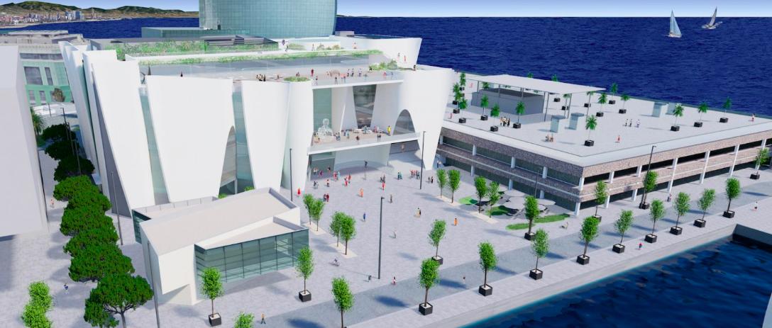 Render del futur Hermitage Barcelona / Toyo Ito & Associates, Architects