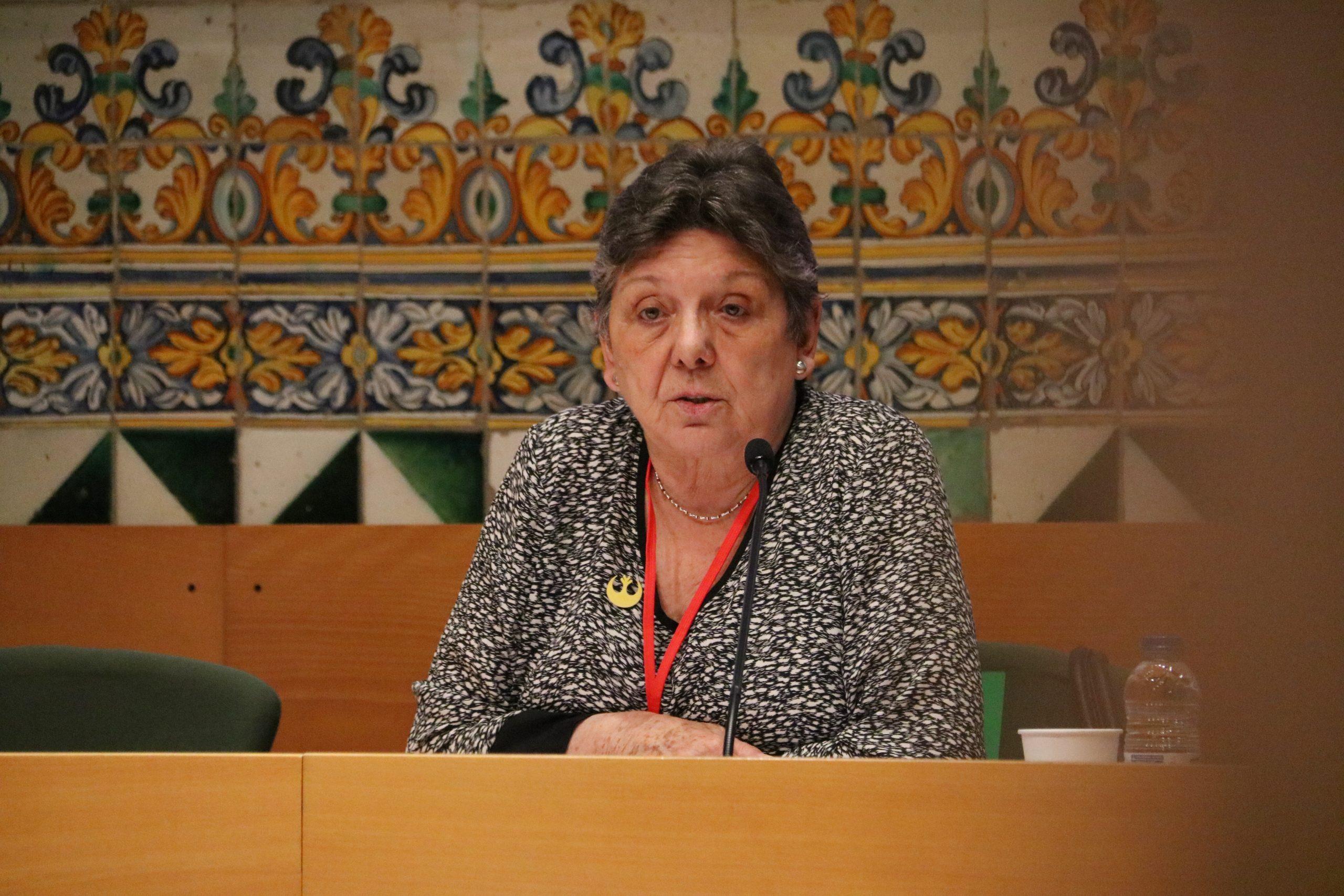 L'exdiputada de la CUP Gabriela Serra en l'acte d'inici del procés participatiu del Debat Constituent / ACN