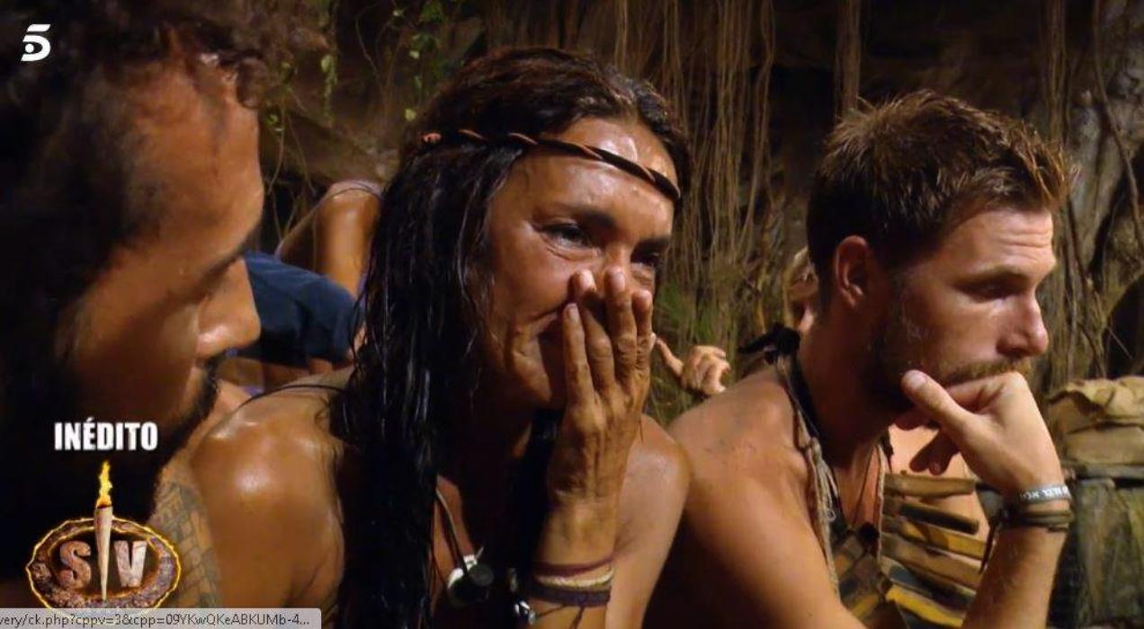 Olga Moreno plora en directe a 'Supervivientes' - Telecinco